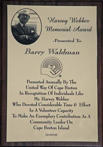 Harvey Webber Award